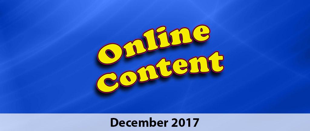 December 2017 Online Content