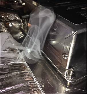 #HVAC system smoke test finds duct leaks