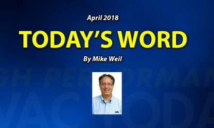 April 2018 Today's Word