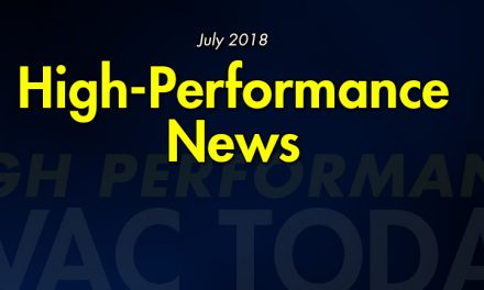 July 2018 High Performance HVAC News
