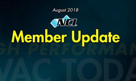 August 2018 Member Update