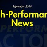 September 2018 High-Performance News