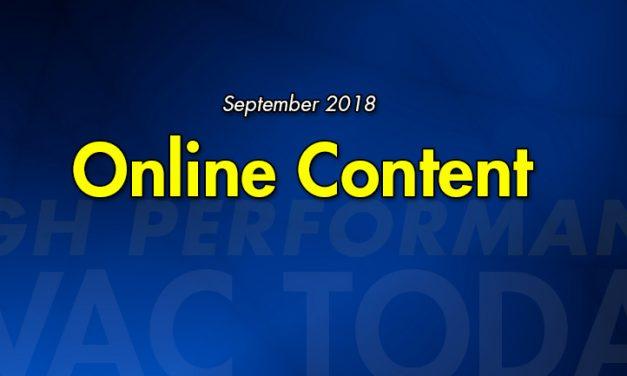 September 2018 Online Content