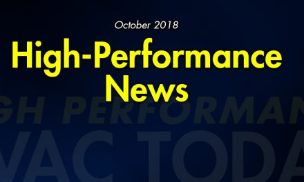 October 2018 High-Performance HVAC News