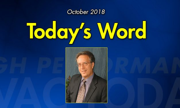 October 2018 Today's Word
