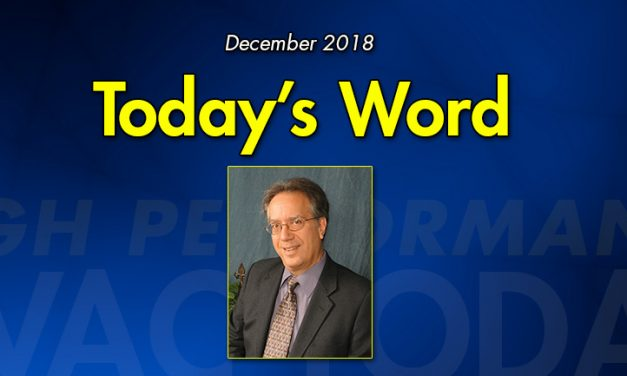 Today's Word – As 2018 Comes to a Close …