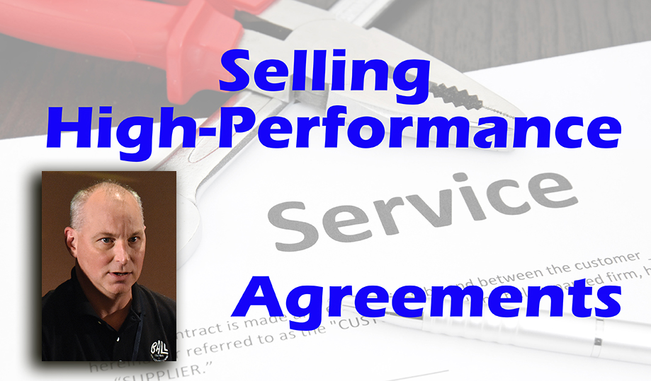 Selling High-Performance Maintenance Agreements