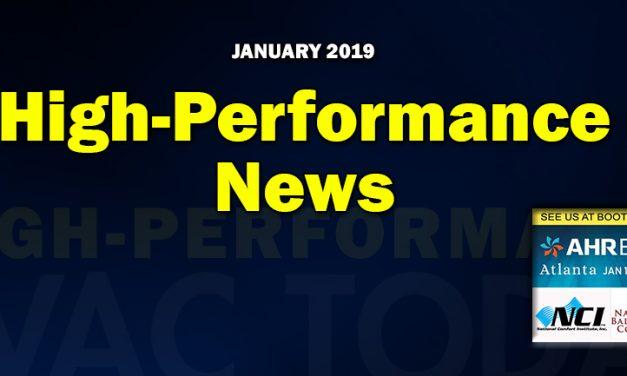 January 2019 High-Performance HVAC News
