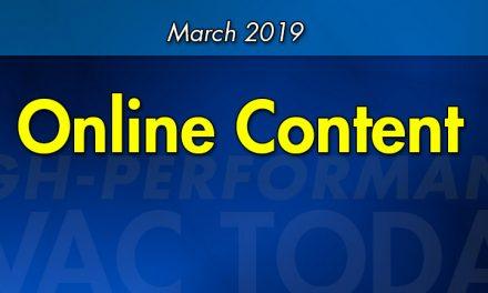 March 2019 Online Content