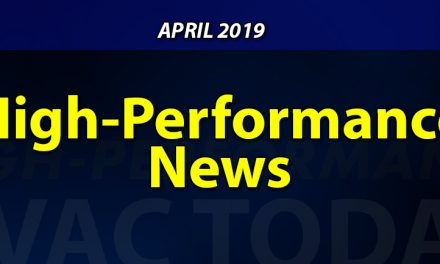 April 2019 High-Performance HVAC News