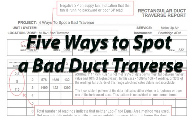 Five Ways to Spot a Bad Duct Traverse