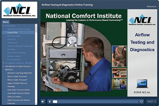 National Comfort Institute has a new online training class
