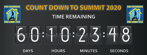 The NCI Member and HVAC Industry Summit 2020 countdown clock