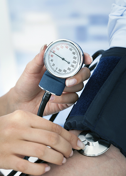 Taking blood pressure is equivalent to taking static pressure