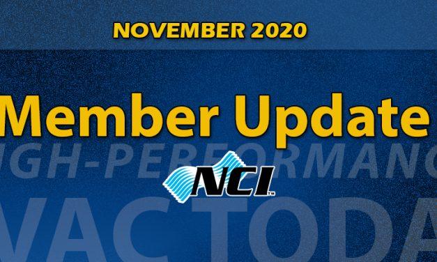 November 2020 Member Update