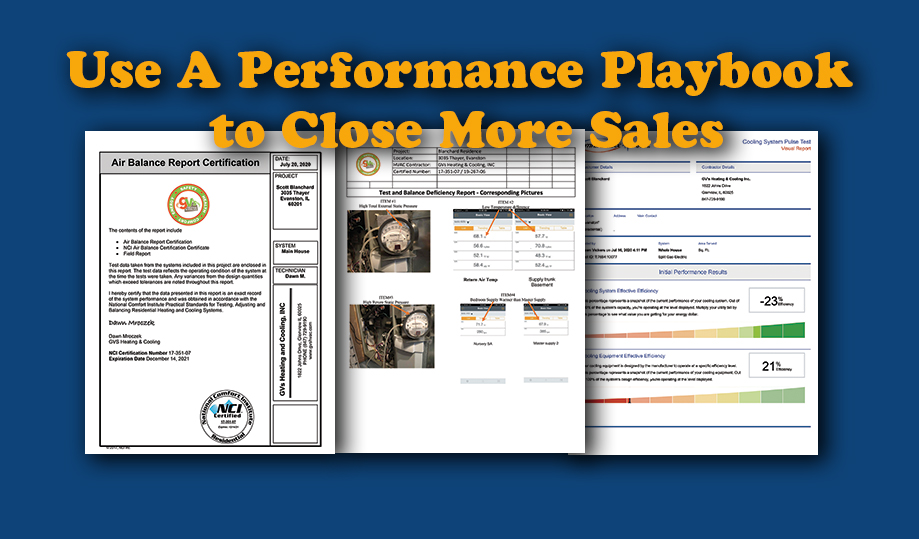 "Use A ""Performance Playbook"" to Close More Sales"