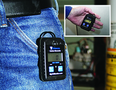 Personal CO monitor provides safety for your people and customers