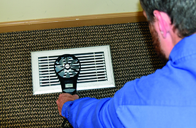 IAQ solutions require measuring and testing airflow