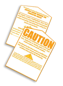 NCI Yellow Tags let other contractors know not to adjust equipment